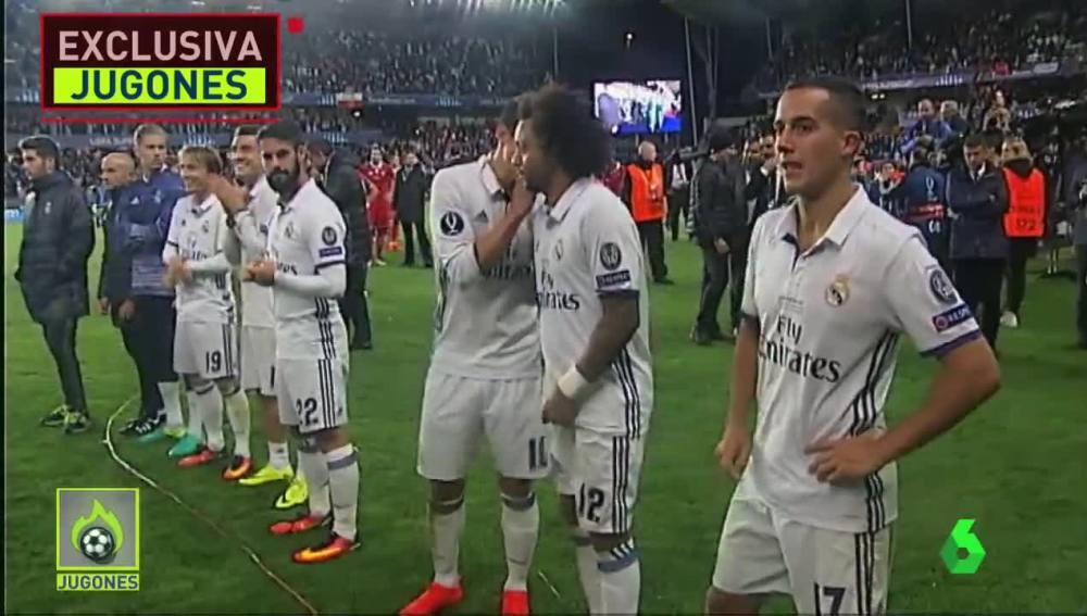 Los sonidos más exclusivos de los jugadores del Madrid en la Supercopa de Europa