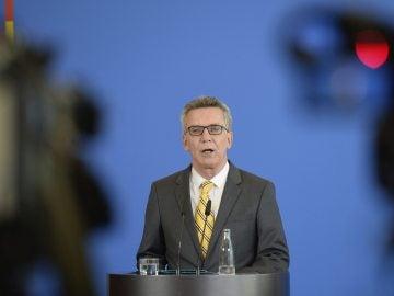 El ministro alemán de Interior, Thomas de Maizière