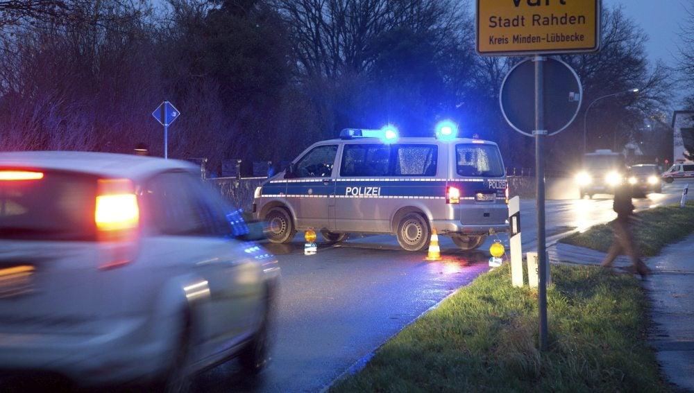 Un vehículo de la policía alemana