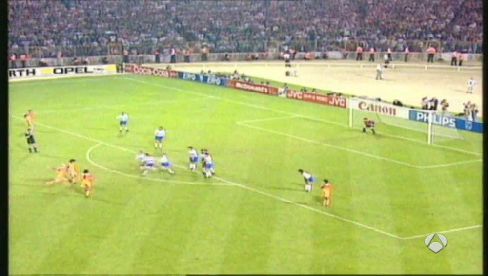 La primera Champions dek Barça contra la Sampdoria en 1992