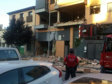 Explosión y posterior incendio en una vivienda de Tudela (Navarra)