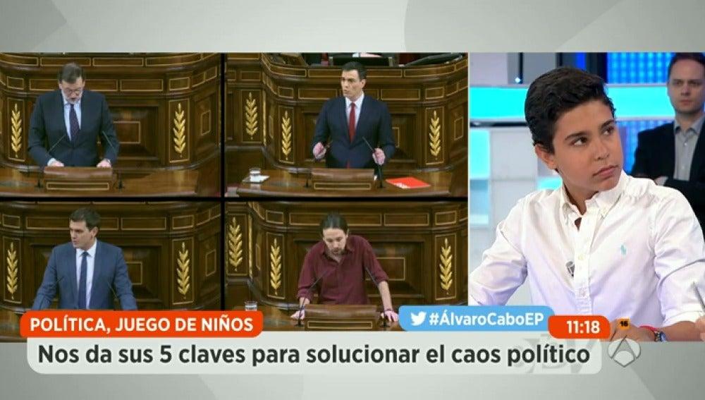 Álvaro Cabo y sus cinco claves políticas