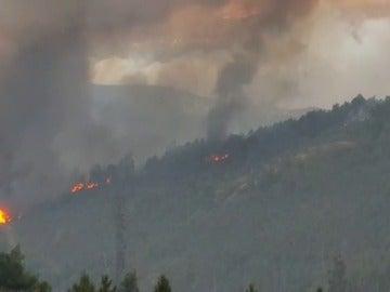 Frame 67.860778 de: Vecinos de la localidad de Arbo graban cómo se inician, de forma simulténea, siete incendios en el monte