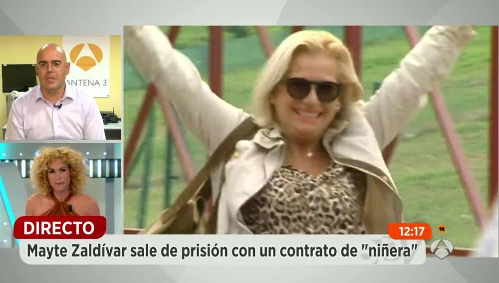 Mayte Zaldívar sale de prisión con un contrato de 'niñera'