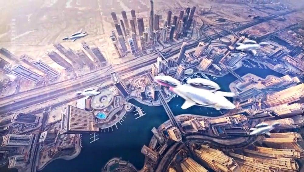 """Frame 18.862872 de: Airbus acaba de presentar su """"taxi autónomo volador"""" porque creen que la solución es aérea."""