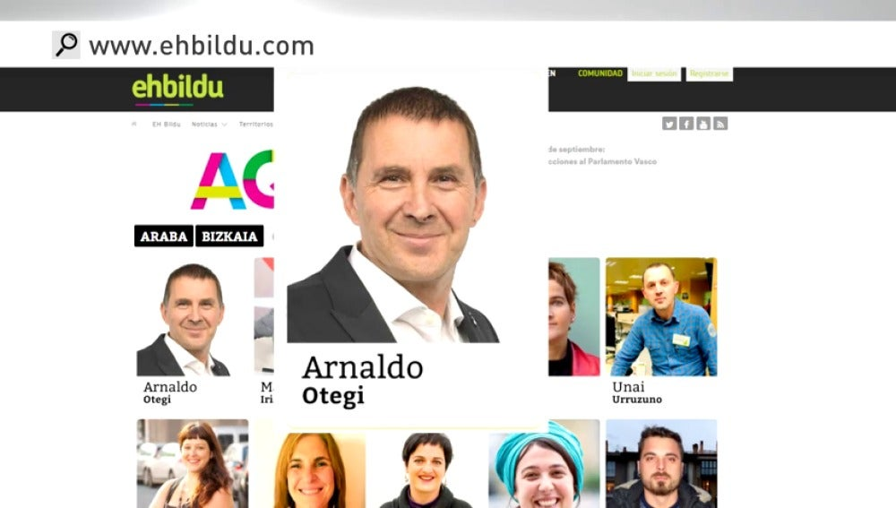 Frame 14.114804 de: Continúa la polémica por la presencia de Arnaldo Otegi como candidato para las elecciones del 25 de septiembre
