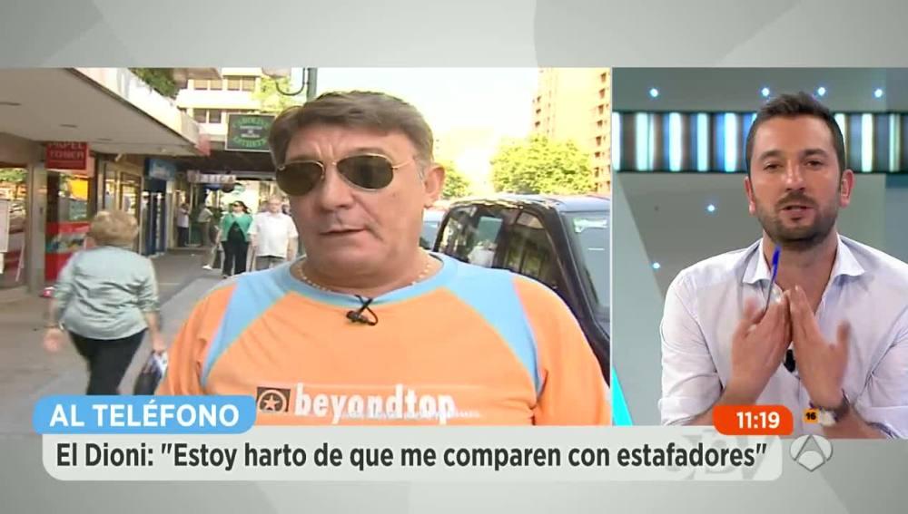 """El Dioni: """"Estoy harto de que me comparen con estafadores"""""""