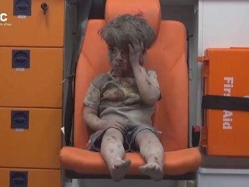 Omran, la cara de la guerra de Siria