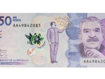 Billete de Gabriel García Márquez