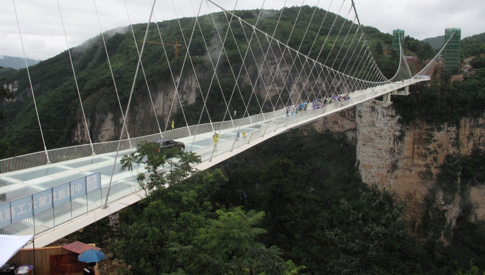 Puente de cristal en Hunan