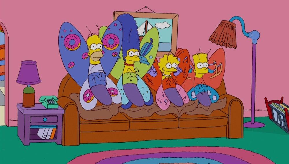 Los Simpson se convierten en mariposas