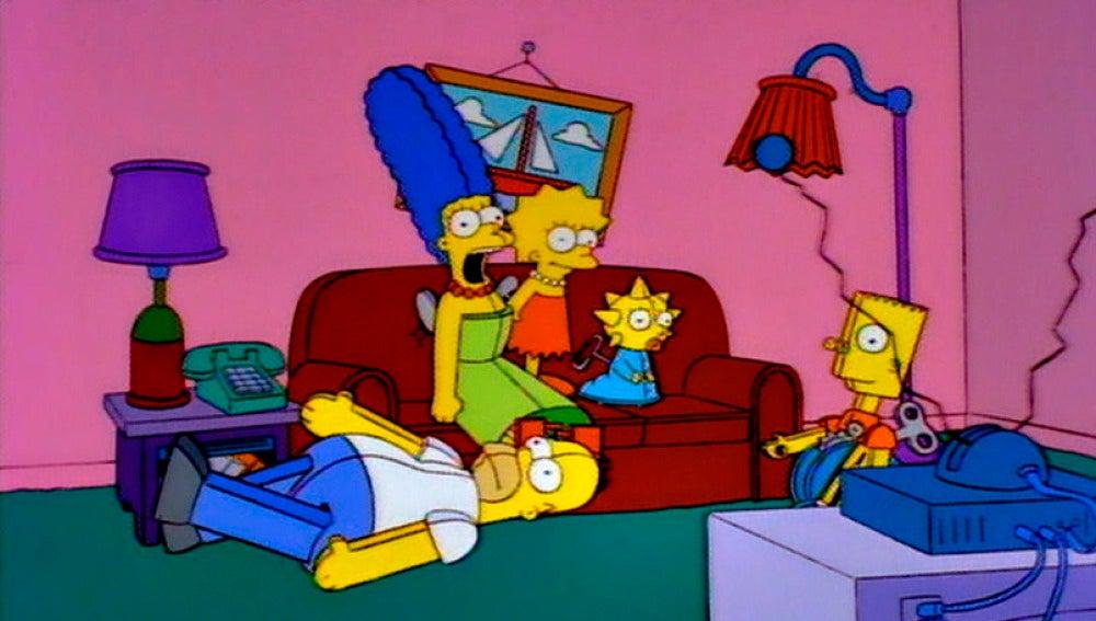 Los Simpson se convierten en juguetes de cuerta