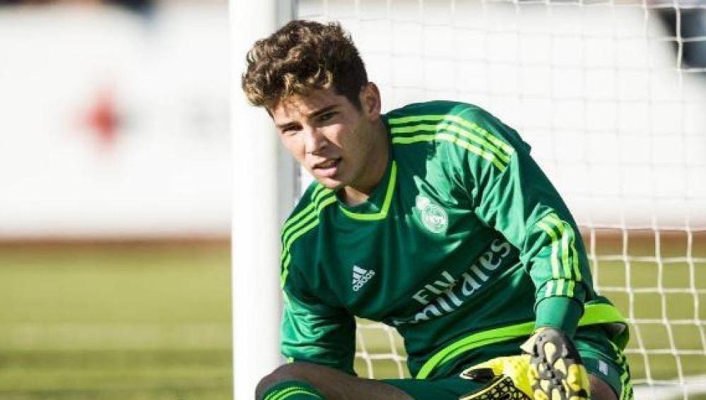 Luca Zidane durante los entrenamientos del Castilla