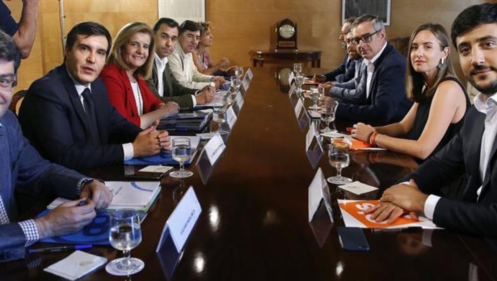 Reunión entre PP y Ciudadanos