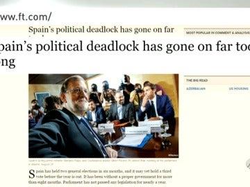 """Frame 154.425547 de: El Financial Times considera de demasiado largo el estancamiento en España y advierte que """"lo peor está por llegar"""""""