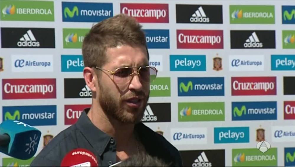Ramos hablando sobre la ausencia de Casillas en la Selección