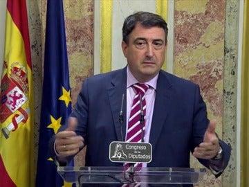 Frame 3.895776 de: Aitor Esteban se declara sorprendido y cabreado con el discurso de Rajoy