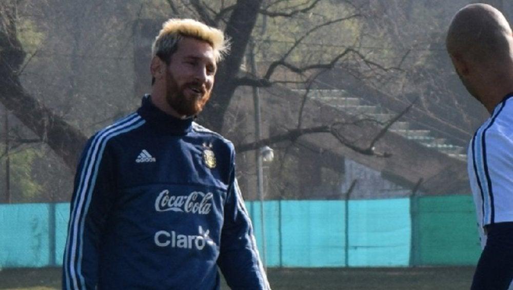 Messi y Mascherano con la selección argentina.