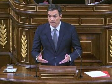 Pedro Sánchez en la sesión de invstidura