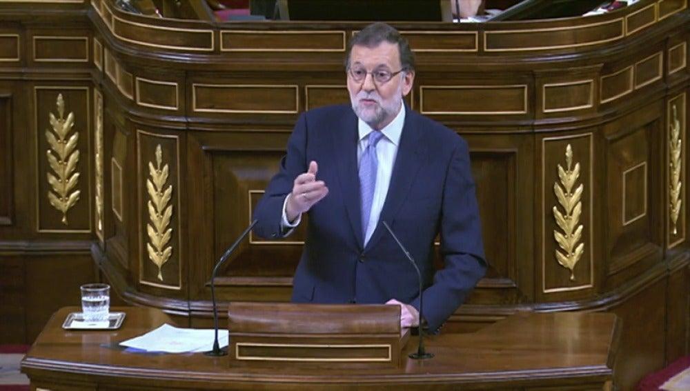 Rajoy en la sesión de investidura