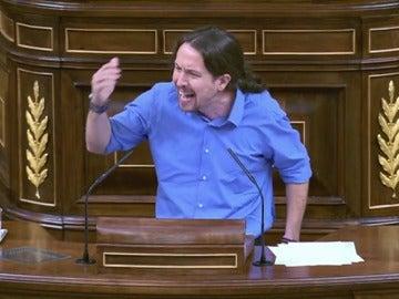 Pablo Iglesias en la sesión de investidura