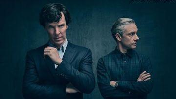 Benedict Cumberbatch y Martin Freeman en la cuarta temporada de 'Sherlock'
