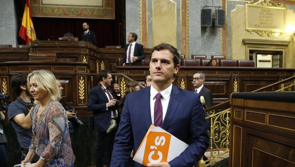 Albert Rivera llega al Congreso de los Diputados
