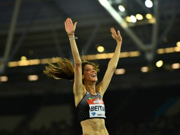 Ruth Beitia, durante la Diamond League