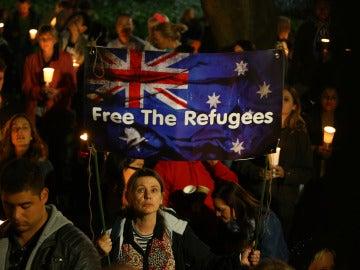 Concentración a favor de los refugiados