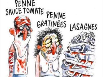 Viñeta de Charlie Hebdo sobre el seísmo en Italia