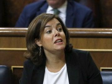 Soraya Sánz de Santamaría en el Congreso