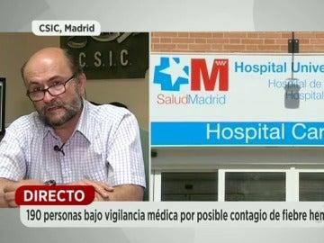 """Frame 115.625791 de: """"Es muy difícil que se produzcan nuevos contagios de fiebre hemorrágica en España"""""""