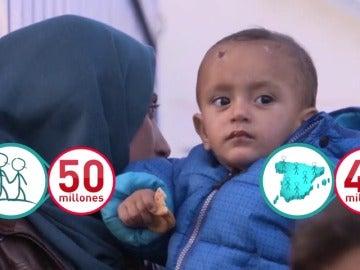 Frame 22.64144 de: UNICEF cifra en casi 50 millones el número de niños desplazados a la fuerza de sus países