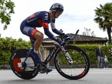 Mathias Frank, ganador de la decimoséptima etapa de la Vuelta a España