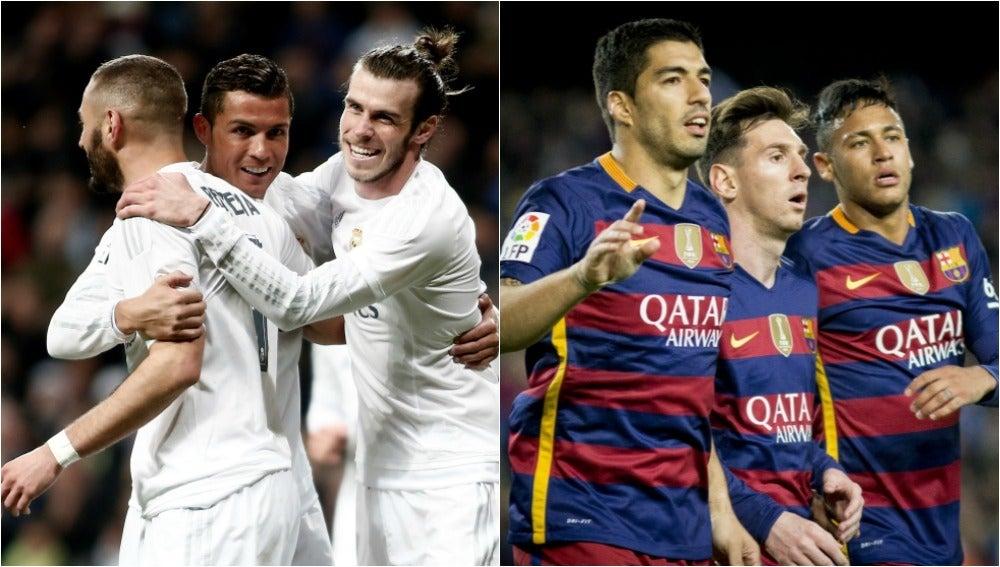 BBC vs MSN: los dos tridentes ofensivos de Madrid y Barça
