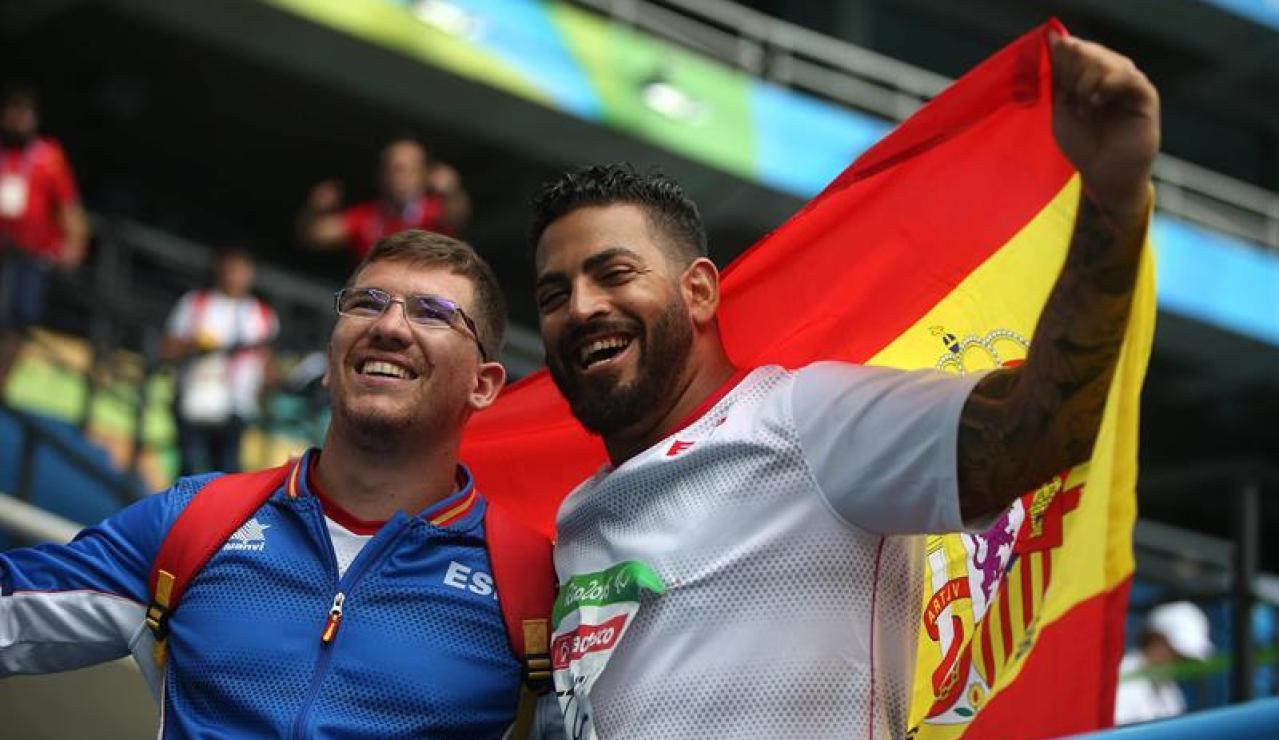 Kim López celebra la medalla de oro lograda en Río