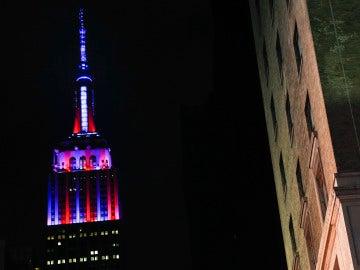 El Empire State, con los colores del FC Barcelona