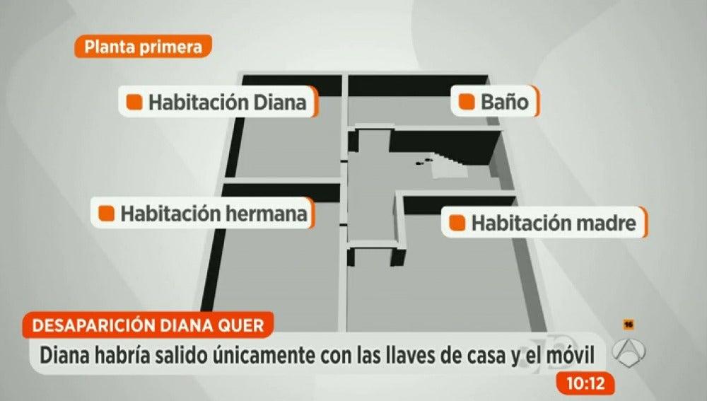 Antena 3 tv reconstruimos el recorrido que hizo diana for Espejo publico diana quer