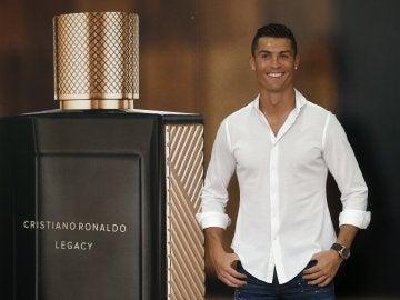 Cristiano Ronaldo en la presentación de su perfume