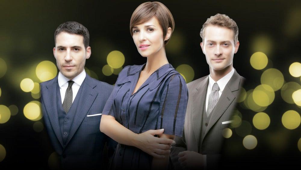 Alberto, Ana y Carlos en la temporada final de Velvet