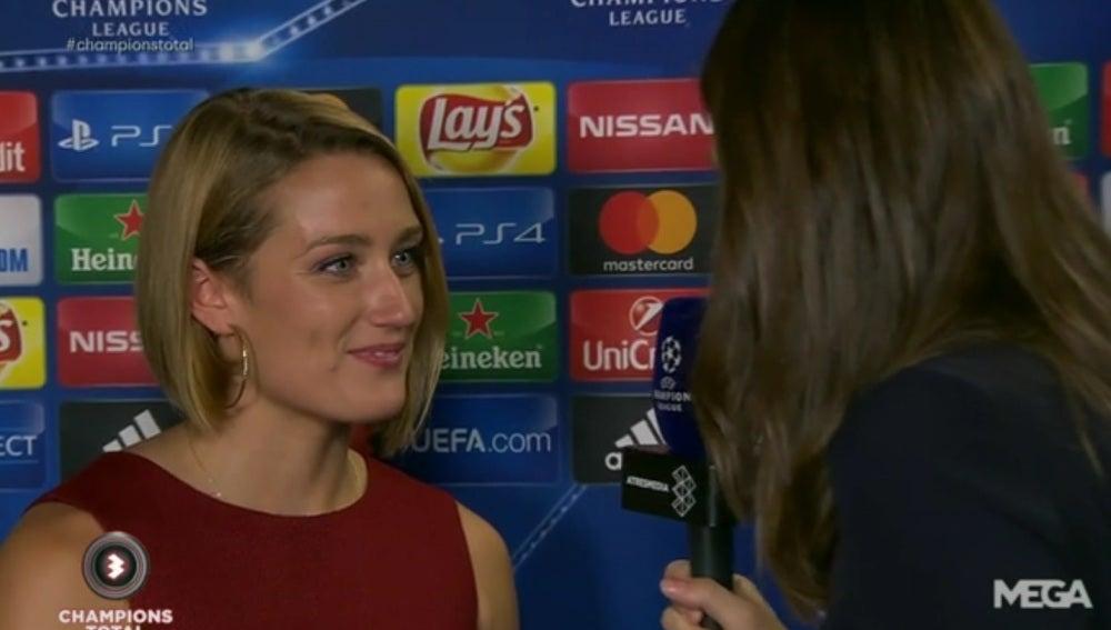 Mireia Belmonte, presente en la goleada del Barcelona al Celtic de Glasgow