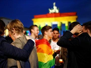 Concentración a favor de los homosexuales