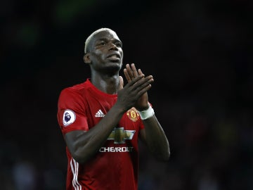 Pogba, con el United