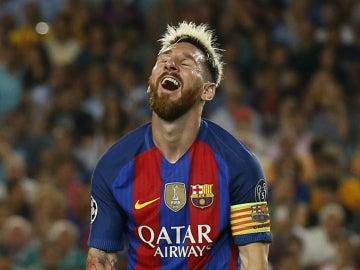 Messi, en un partido del Barça
