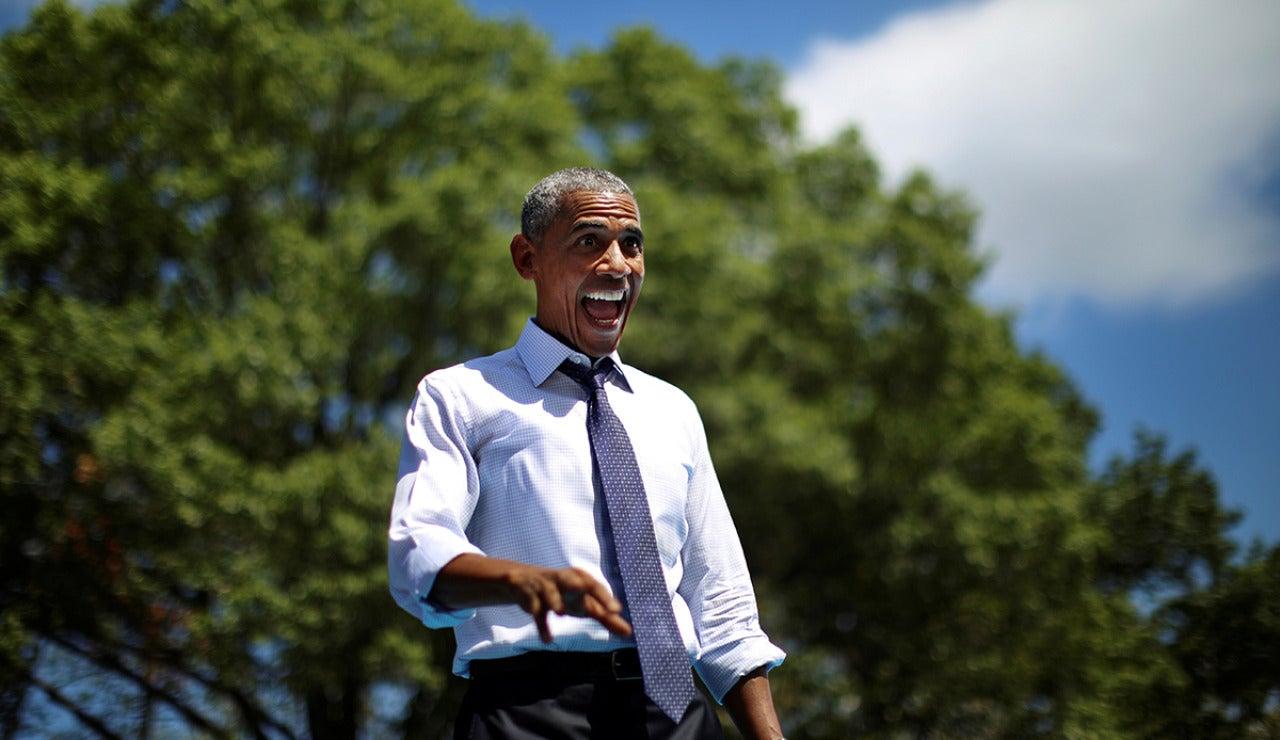 Barack Obama en un acto electoral