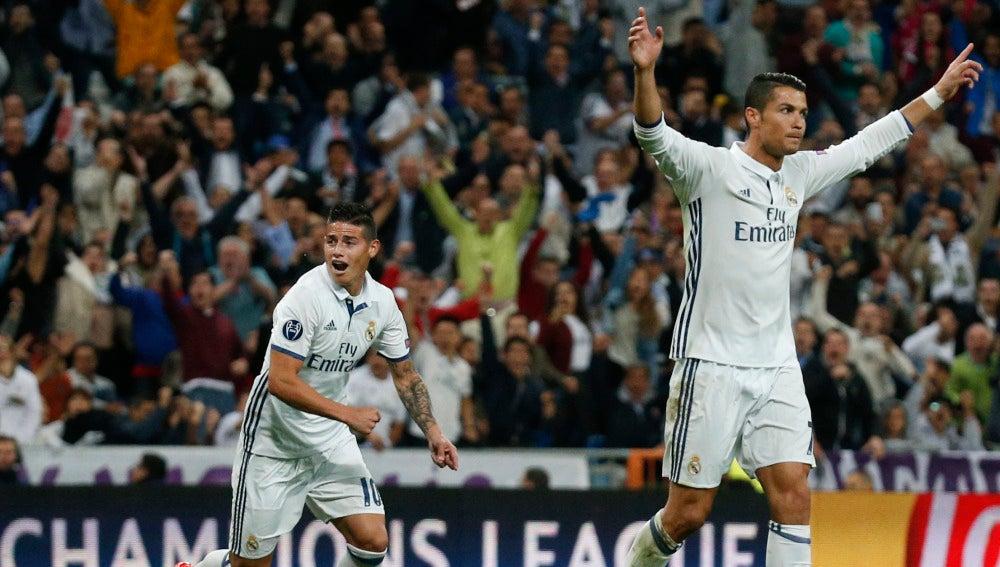 Cristiano Ronaldo tras su gol al Sporting de Lisboa