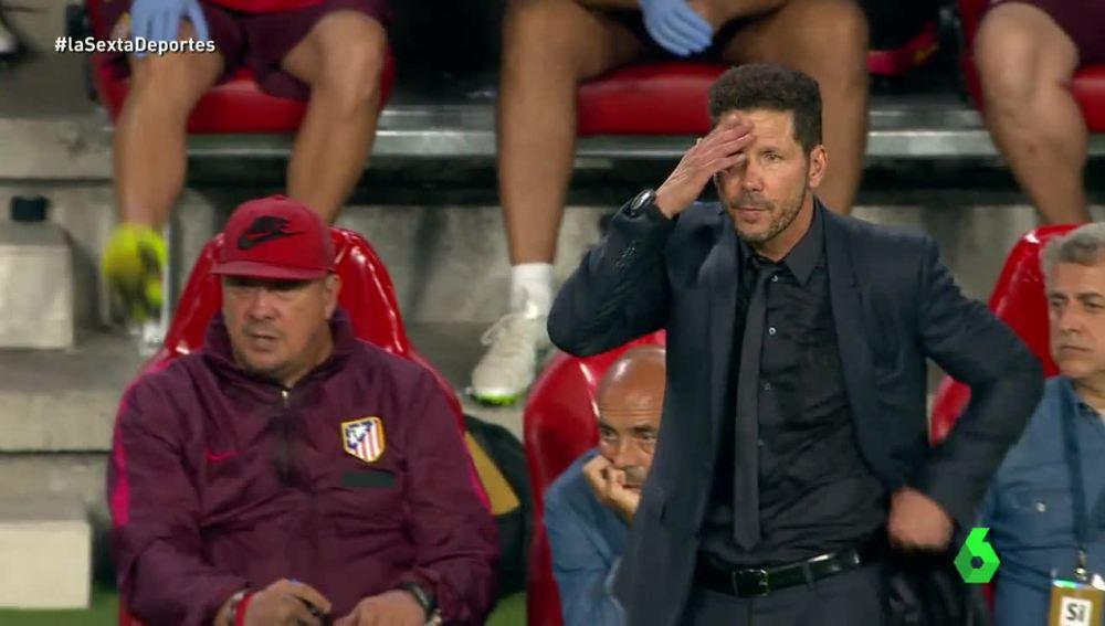Simeone lamenta una ocasión fallida del Atlético