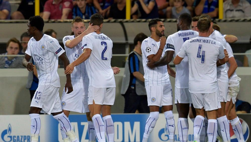 El Leicester gana al Brujas en su primer partido de Champions League