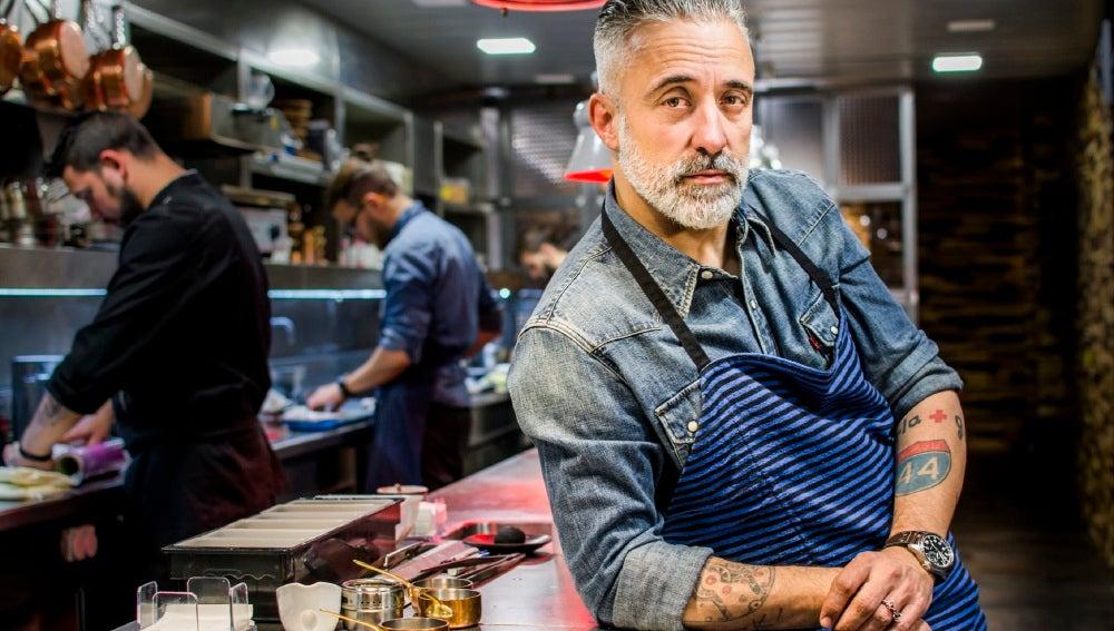 Sergi Arola, en la cocina de su restaurante.