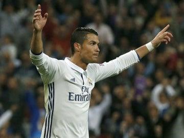 Cristiano, tras marcar ante el Sporting